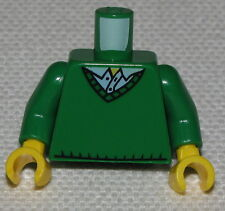 LEGO NEW GREEN MINIFIGURE TORSO WITH V-NECK SWEATER FIGURE PIECE