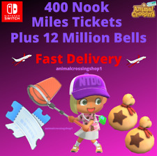 12 MILLION BELLS + 400 Nook Miles Tickets! Animal Crossing New Horizons CHEAP