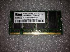Memoria SoDimm DDR ProMOS V826632B24SCTG-C0 256MB PC2700 333MHz CL2.5 200 Pin