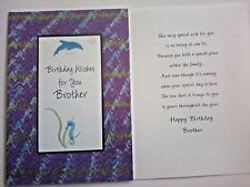 1 Birthday Greeting Card/Envelope Brother Bro Love Family Step Big Little Apart