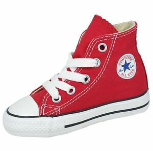Converse Chuck Taylor All Star Hi Red White Infant Toddler Boy Girl Size 2-10