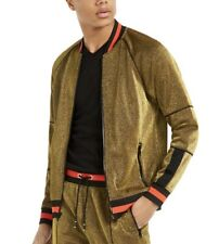 INC Men's Disco Track Jacket Gold Size Large $75