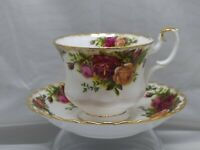 Vintage Royal Albert Old Country Roses England Teacup Saucer 1962 - 6 available