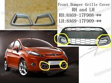 Front Bumper Grille Molding Surround Covers Pair For Ford Fiesta 2009-2011