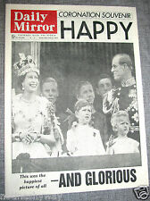 Queen Elizabeth II Coronation Newspaper Old 1953 England British Royal Family UK
