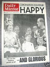 Queen Elizabeth II Coronation Newspaper Old 1953 England British Royal Family UK
