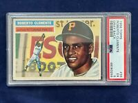 🔥👀1956 Topps #33 RARE Roberto Clemente Gray Back PSA EX5 Pirates Sweet ! 👀🔥