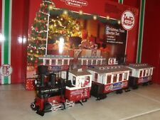 LGB 72304 RED CHRISTMAS PASSENGER TRAIN SET OF 3 PCS NIB NO TRACK & TRANSFORMER