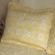 Deluxe Bedspread Set Modern Design Patterns For Apartment Living Yellow Double