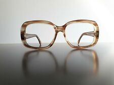Rare vintage thick brown pre-owned men's glasses 52-16-135 60s glasses Brille