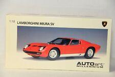 1/18 AUTOART LAMBORGHINI MIURA SV IN RED , NEW , 74543