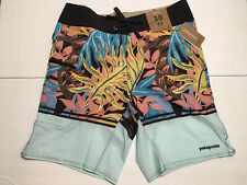 Patagonia Stretch Planing Swim Short Atoll Blue Shorts Mens Size 30 NEW!