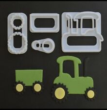 Trattore 4 Pezzi Set Cutter in Plastica Decorazione Torte Stampo Sugarcraft Stampo per biscotti