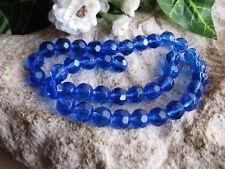 blau Perlen 8519 50 Glasschliffperlen rund 4mm baby