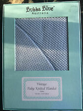 Bubba Blue _ Vintage Baby Knitted Blanket