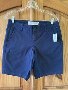 Women's Aeropostale Curvy Bermuda Twill Short Dark Blue Shorts Size 0 - NWT