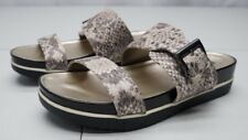 White Mountain Womens 7M Animal Print Tough Guy Snake Buckle Sleigh Sandals