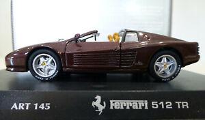 1/43 Detail Cars Ferrari 512 TR Spider in Dark Bronze. Exc & Boxed. ART.145.