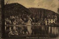 Bad Liebenzell alte Postkarte ~1910 Partie am See Teilansicht Personen im Boot