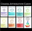 Watercolour Chakra Affirmation Card Set tarot cards spiritual cards chakra deck