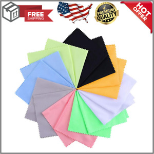 8 Pack Extra Large Microfiber Cleaning Cloth Multicolor For Eyeglasses New