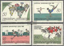 Liechtenstein 947-950 (édition complète) oblitéré 1988 Jeux Olympiques