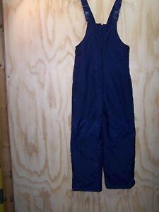 "Girls/Women's SO Ski Snow Bib Pants Size MED Inseam 24"" Navy Blue"