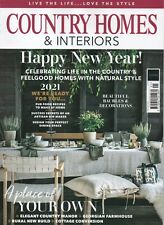 COUNTRY HOMES & INTERIORS magazine - January 2021 (BRAND NEW)