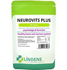 Neurovits Plus Vitamin B1, B6, B12 Folic Acid Lindens Vegan Tablets - 90 Capsules