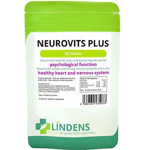 Neurovits Plus (Vitamin B1, B6, B12, Folic Acid) Tablets 90 Tablets Lindens