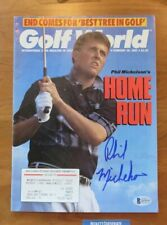 Phil Mickelson RC Golf World Signed Autographed Magazine Beckett COA Feb.1993