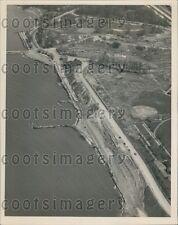 1951 Aerial Shore Drive Cleveland Ohio Press Photo