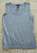 New York & Company Sleeveless Scoop Neck Shirt size XS extra small - gray