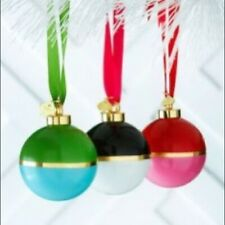 SET OF 4 NIB Kate Spade Lenox Christmas Ornaments Be Merry Be Bright Colorblock
