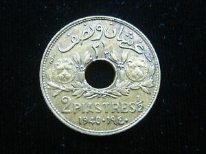 LEBANON 2 1/2 PIASTRE 1940 LIBAN SHARP 3900 # MONEY COIN