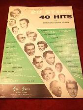"NICE VTG 1957 MUSIC SHEET BOOK ""20 STARS, 40 HITS FOR HAMMOND CHORD ORGAN"""