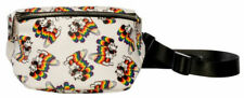 Loungefly Disney Classic Mickey Mouse Rainbow Pride Adjustable Fanny Pack New