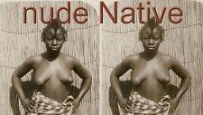 18 Stereofotos Stereoviews nude Native Afrika  Motive um 1900 nackt akt Serie 3