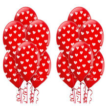 Valentine's Day Red Hearts Latex Balloons Love Decoration Party Supplies ~ 12ct