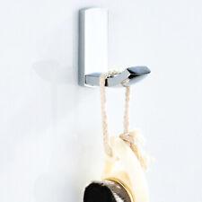 Polished Chrome Brass Bath Robe Hooks Towel Rack Coat Hat Hook Door Wall Hanger