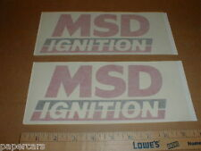 "MSD Ignition original die-cut contingency 8"" in Nascar racing decal sticker lot"