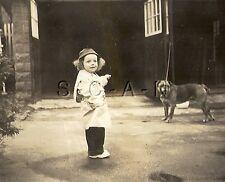 Original Vintage 1940s RP- Beth & Red Mike- Dog- Boxer / Bulldog Mix- May 1948