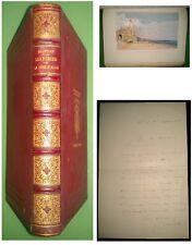 BOURELLY - Les Perles de la Côte d'Azur - 1900 - E.O num + lettre de l'auteur