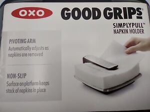 34.  OXO Good Grips Simply Pull Napkin Holder NEW, Stainless Steel