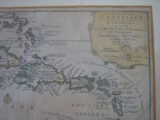 New ListingOriginal 1705 Map.' L' Amerique D' Antilles '.Cuba,Jamaique,Caribes