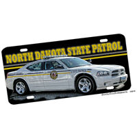North Dakota State Patrol Charger Aluminum License plate