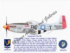 """357 FG Chuck Yeager's P-51D Mustang """"Glamorous Glen III"""" Prints by Willie Jones"""