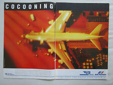 4/1992 PUB UTA INDUSTRIES AIR FRANCE AIRLINE AIRCRAFT SERVICE GROUP FRENCH AD