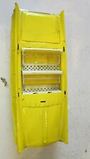 Vintage Old Timer Tin Toy Friction Car Yellow Convertible