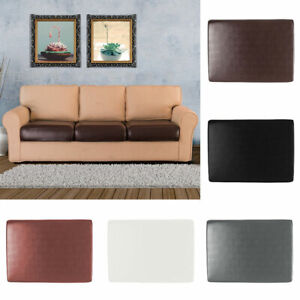 1/2/3/4 Seater PU Leather Sofa Cushion Slipcovers Waterproof Seat Cover Decor
